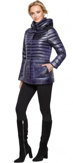 """Фиолетовая куртка прямого фасона женская модель 15115 Braggart """"Angel's Fluff"""" фото 1"""