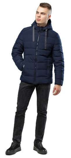 Подростковая куртка для мальчика зимняя тёмно-синяя модель 6008 Kiro Tokao – Ajento фото 1