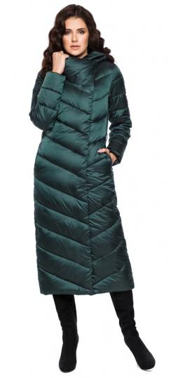 """Куртка изумрудная женская комфортная модель 31016 Braggart """"Angel's Fluff"""" фото 1"""
