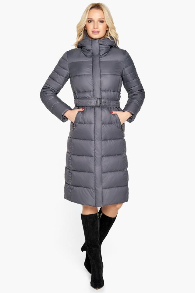 """Брендовая куртка женская цвет муссон модель 31052 Braggart """"Angel's Fluff"""" фото 4"""
