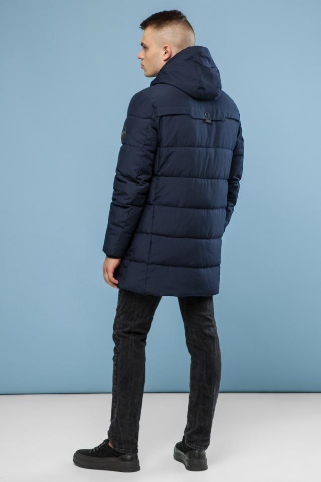 Зимняя мужская темно-синяя куртка модель 6006