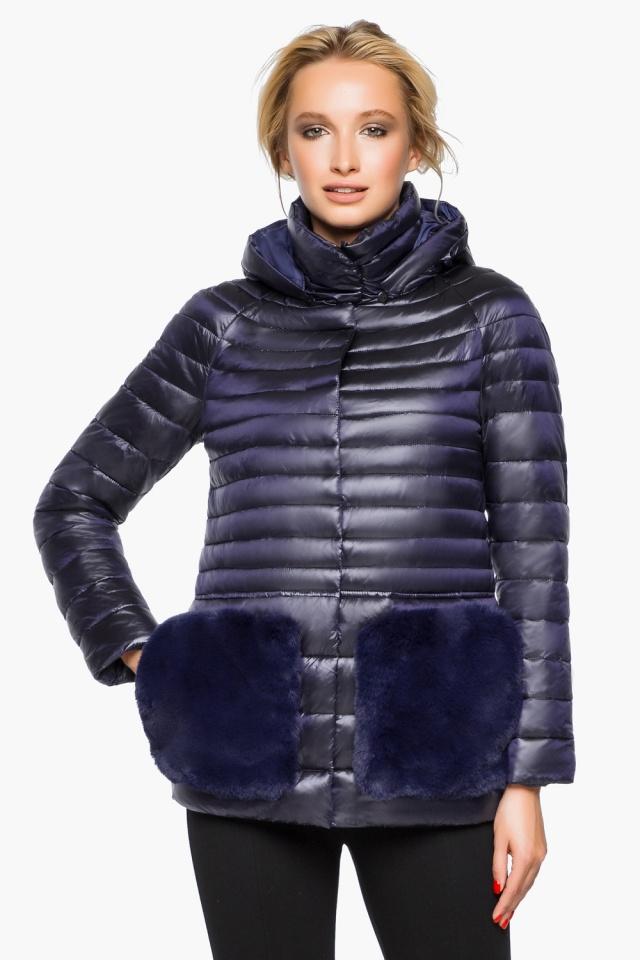 """Фиолетовая куртка прямого фасона женская модель 15115 Braggart """"Angel's Fluff"""" фото 4"""
