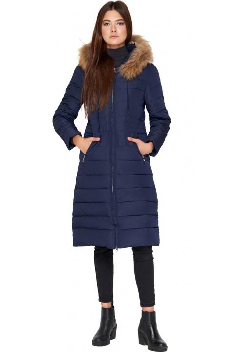 Синяя куртка женская удобная зимняя модель 9615 Kiro Tokao фото 1