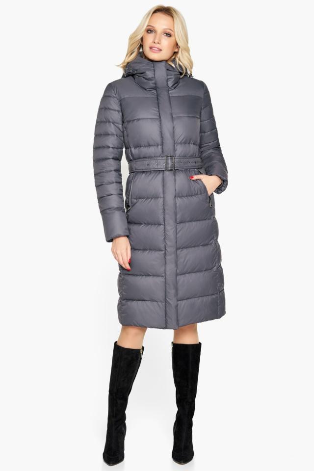 """Брендовая куртка женская цвет муссон модель 31052 Braggart """"Angel's Fluff"""" фото 2"""