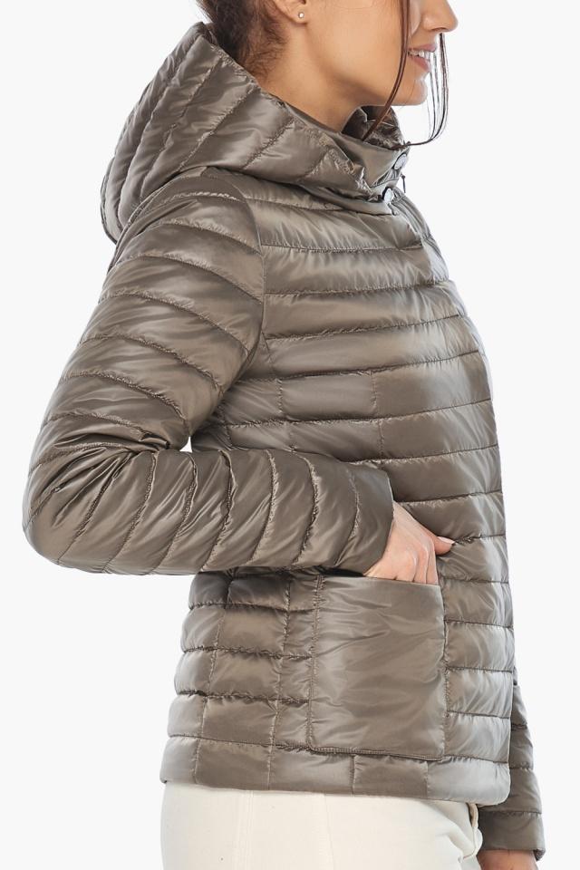 """Капучиновая куртка с накладными карманами женская на весну модель 67510 Braggart """"Angel's Fluff"""" фото 7"""
