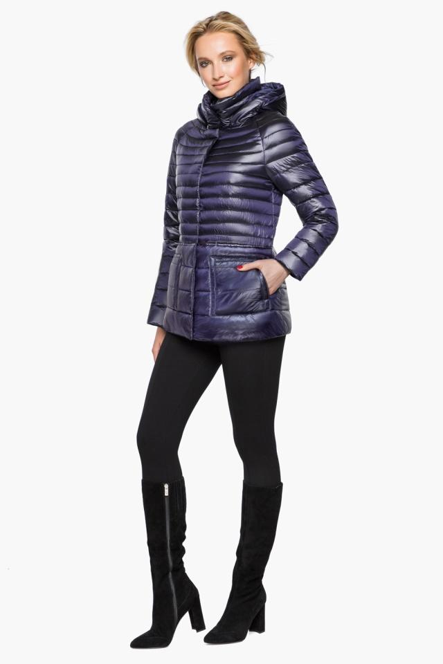 """Фиолетовая куртка прямого фасона женская модель 15115 Braggart """"Angel's Fluff"""" фото 2"""