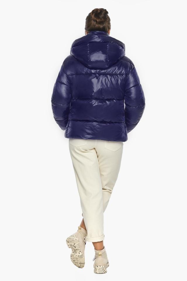 """Куртка женская синяя зимняя с длинными манжетами модель 44210 Braggart """"Angel's Fluff"""" фото 5"""