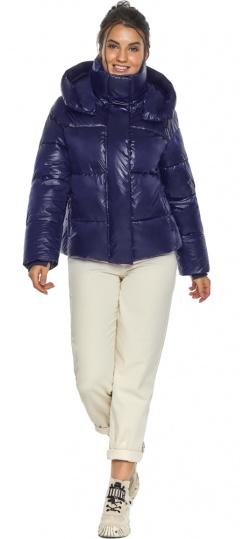 """Куртка женская синяя зимняя с длинными манжетами модель 44210 Braggart """"Angel's Fluff"""" фото 1"""