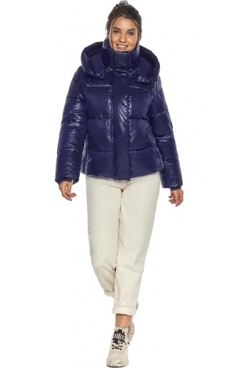"""Куртка жіноча синя зимова з довгими манжетами модель 44210 Braggart """"Angel's Fluff"""" фото 1"""