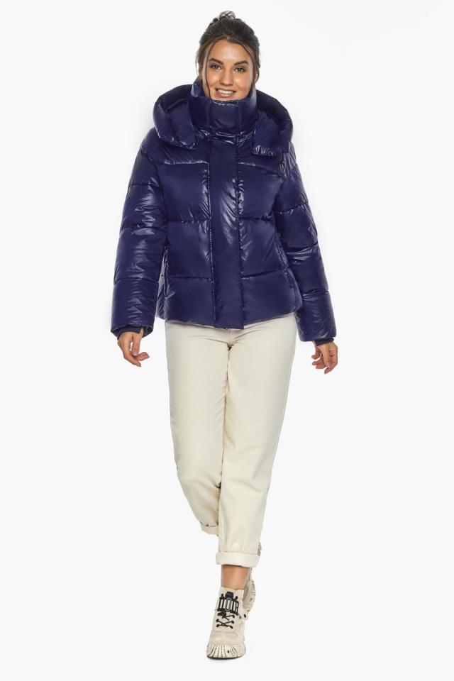 """Куртка женская синяя зимняя с длинными манжетами модель 44210 Braggart """"Angel's Fluff"""" фото 2"""