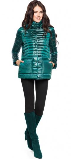 """Модная изумрудная куртка женская модель 15115 Braggart """"Angel's Fluff"""" фото 1"""