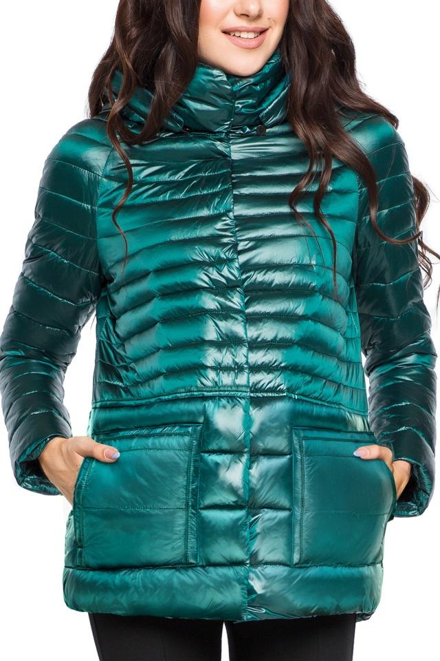 """Модная изумрудная куртка женская модель 15115 Braggart """"Angel's Fluff"""" фото 6"""