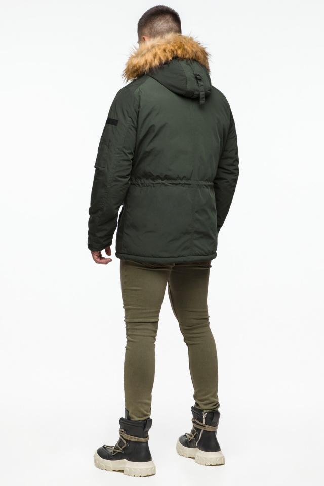 "Темно-зеленая мужская зимняя парка с капюшоном модель 25770 Braggart ""Youth"" фото 6"