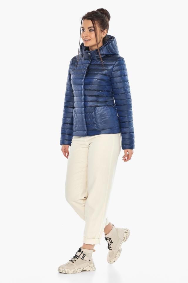 """Оригінальна куртка сапфірова жіноча осінньо-весняна модель 67510 Braggart """"Angel's Fluff"""" фото 2"""