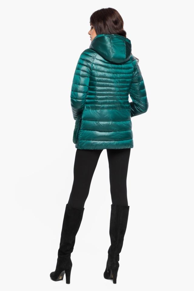 """Модная изумрудная куртка женская модель 15115 Braggart """"Angel's Fluff"""" фото 5"""