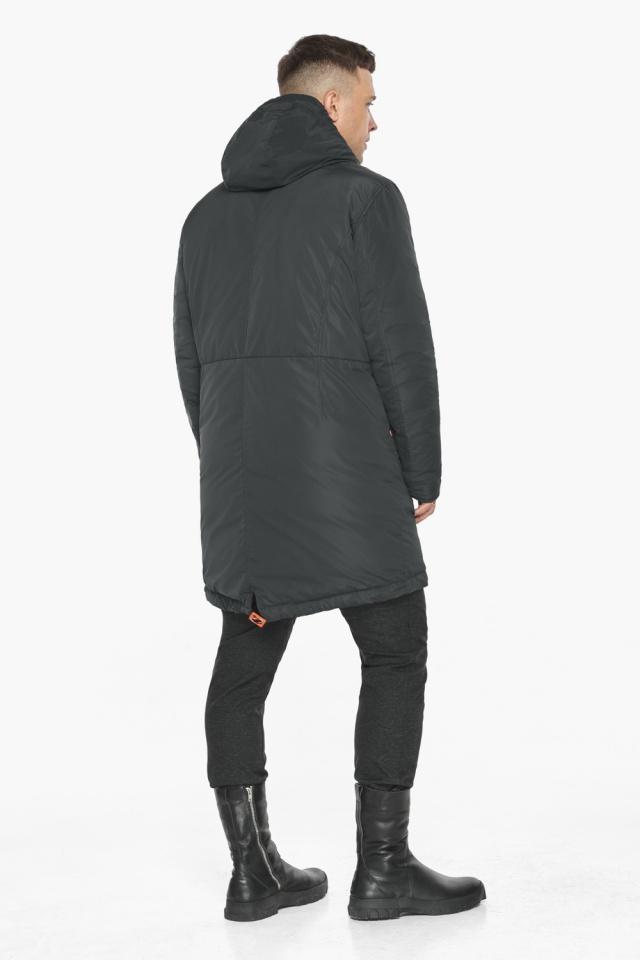 """Куртка – воздуховик графитово-синий практичный зимний для мужчин модель 30816 Braggart """"Angel's Fluff Man"""" фото 8"""