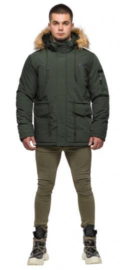 "Темно-зеленая мужская зимняя парка с капюшоном модель 25770 Braggart ""Youth"" фото 1"
