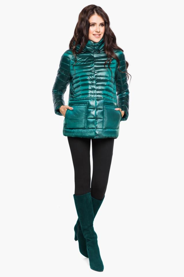 """Модная изумрудная куртка женская модель 15115 Braggart """"Angel's Fluff"""" фото 2"""
