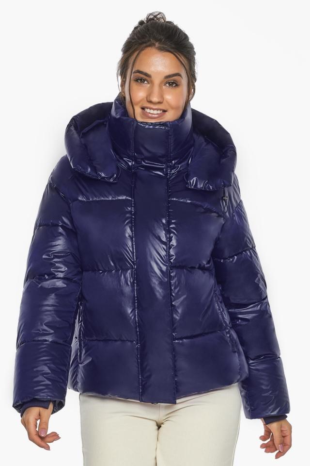 """Куртка женская синяя зимняя с длинными манжетами модель 44210 Braggart """"Angel's Fluff"""" фото 4"""