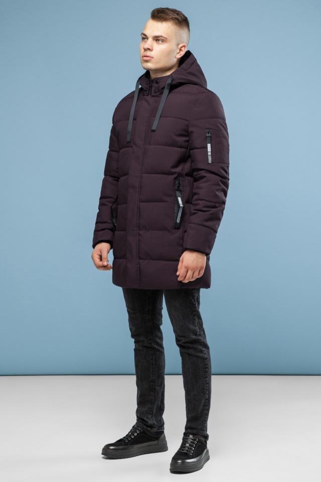 Зимняя куртка бордового цвета мужская модель 6007 Kiro Tokao – Ajento фото 2