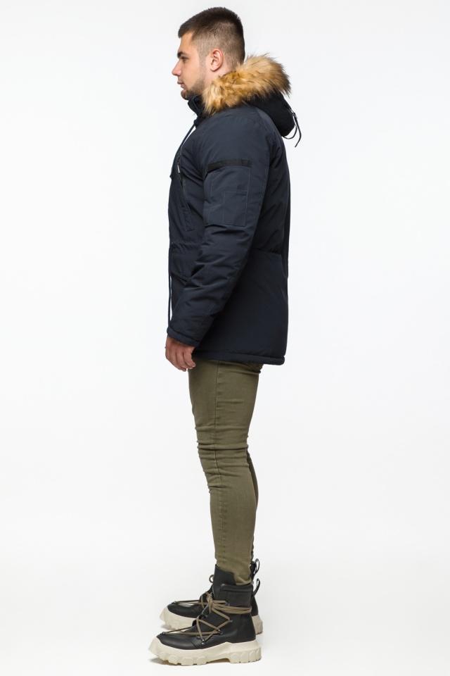 "Мужская парка с кулиской темно-синяя зимняя модель 25770 Braggart ""Youth"" фото 5"