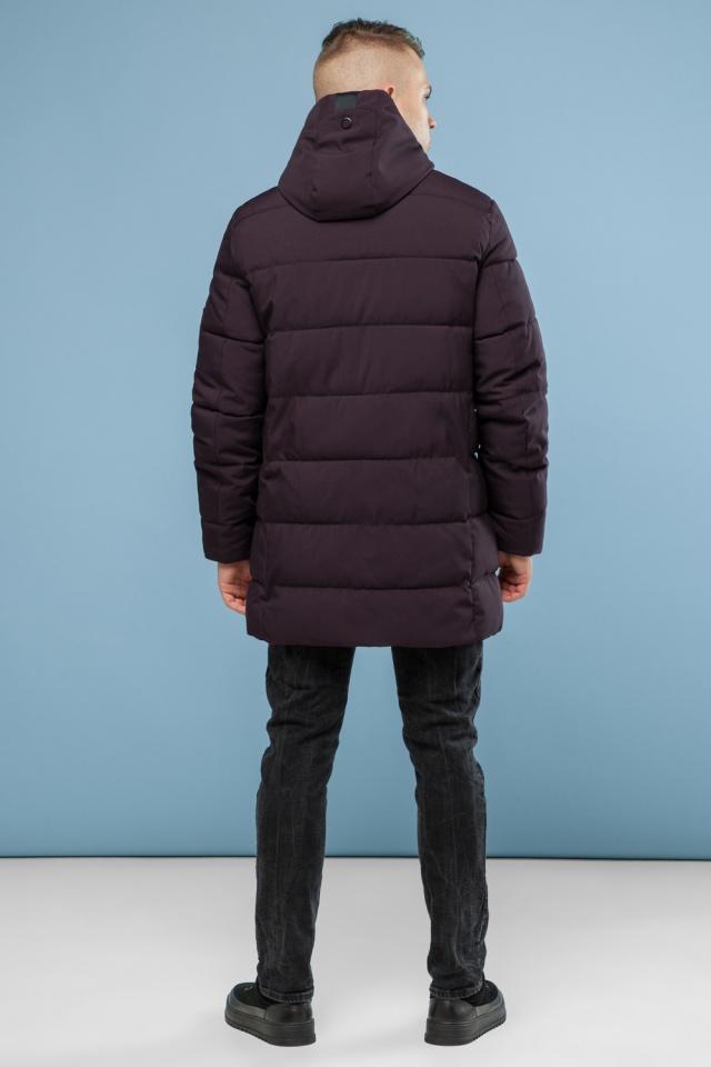 Зимняя куртка бордового цвета мужская модель 6007 Kiro Tokao – Ajento фото 5