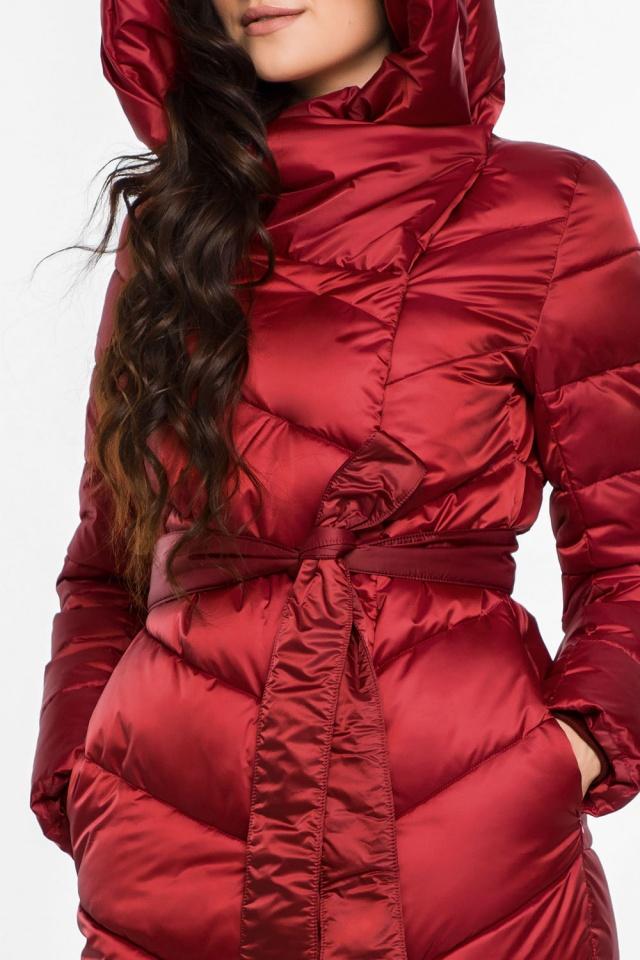 """Яркая рубиновая куртка женская модель 31016 Braggart """"Angel's Fluff"""" фото 7"""
