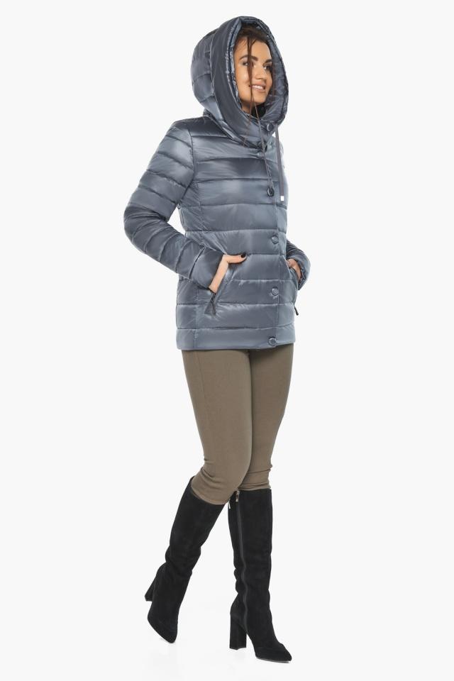 """Осенне-весенняя куртка с вшитым капюшоном женская цвет маренго модель 61030 Braggart """"Angel's Fluff"""" фото 3"""