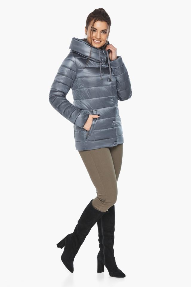 """Осенне-весенняя куртка с вшитым капюшоном женская цвет маренго модель 61030 Braggart """"Angel's Fluff"""" фото 2"""