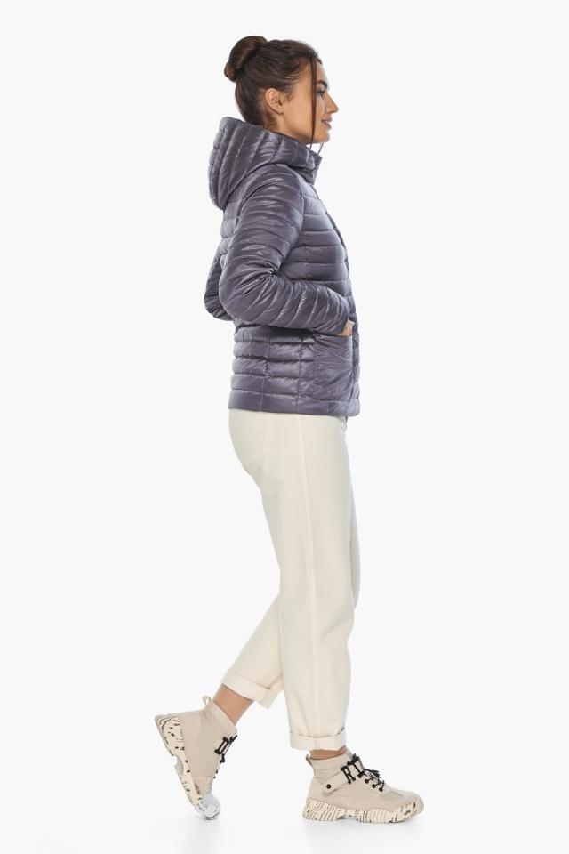 """Осенне-весенняя трендовая лавандовая куртка женская модель 67510 Braggart """"Angel's Fluff"""" фото 6"""