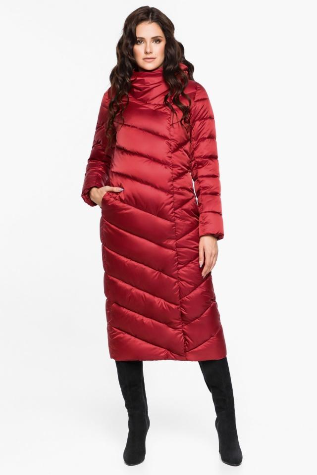 """Яркая рубиновая куртка женская модель 31016 Braggart """"Angel's Fluff"""" фото 5"""