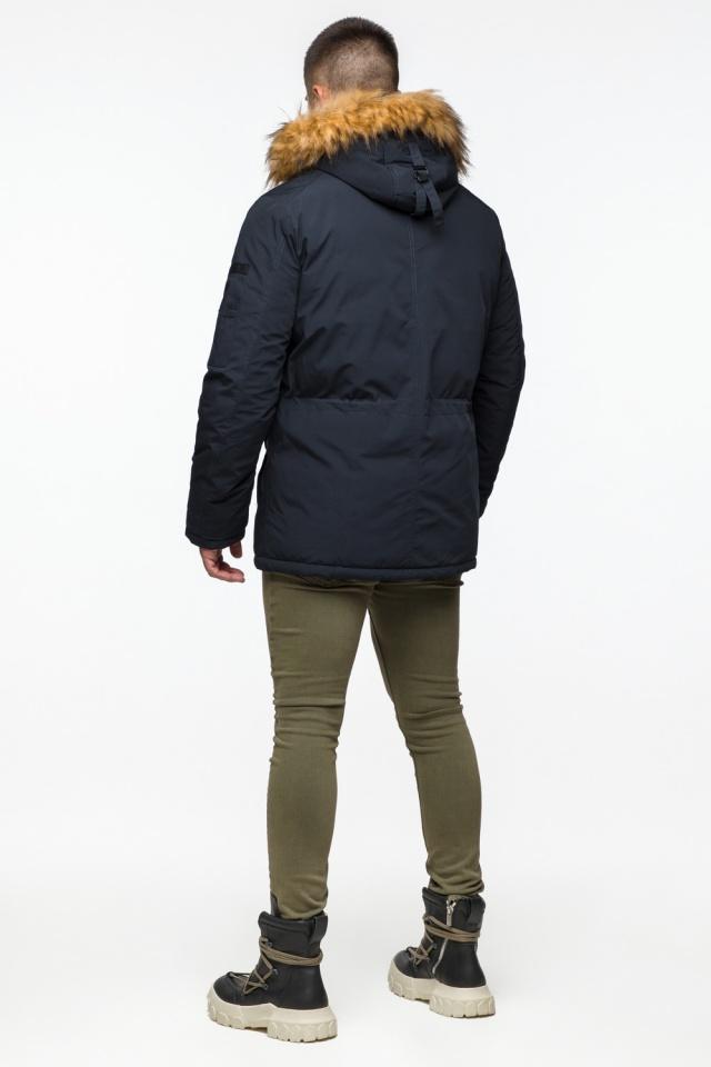 "Мужская парка с кулиской темно-синяя зимняя модель 25770 Braggart ""Youth"" фото 6"
