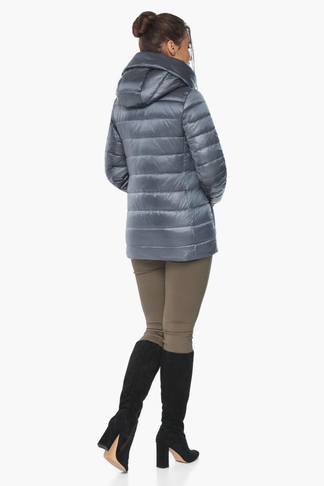 """Осенне-весенняя куртка с вшитым капюшоном женская цвет маренго модель 61030 Braggart """"Angel's Fluff"""" фото 6"""