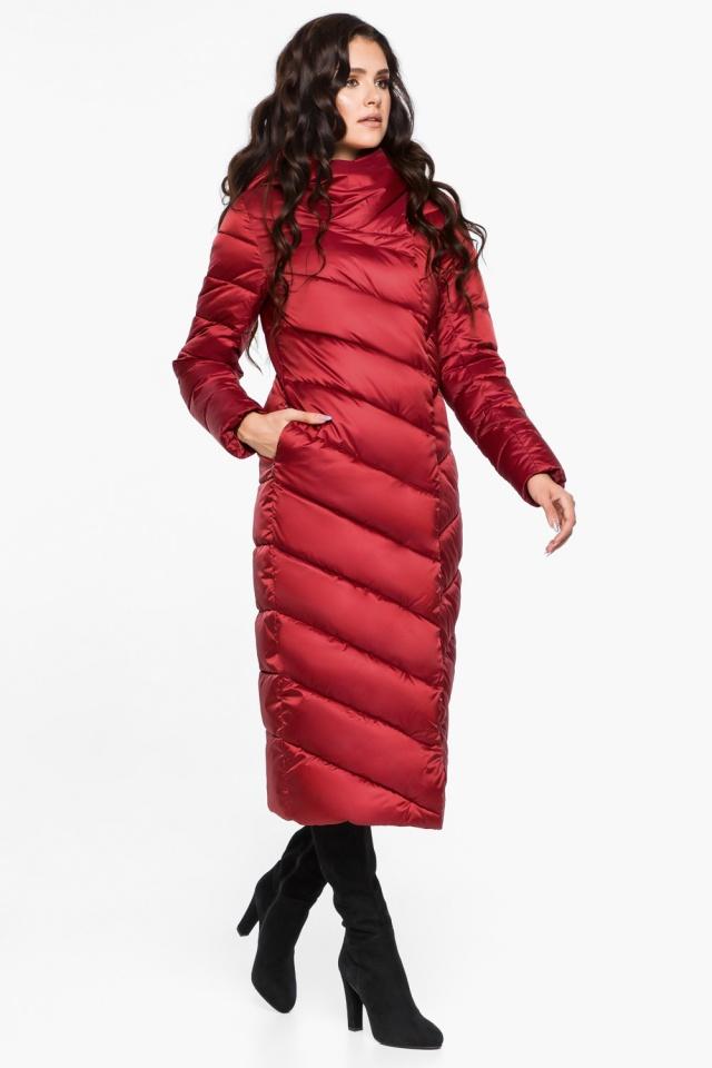 """Яркая рубиновая куртка женская модель 31016 Braggart """"Angel's Fluff"""" фото 2"""