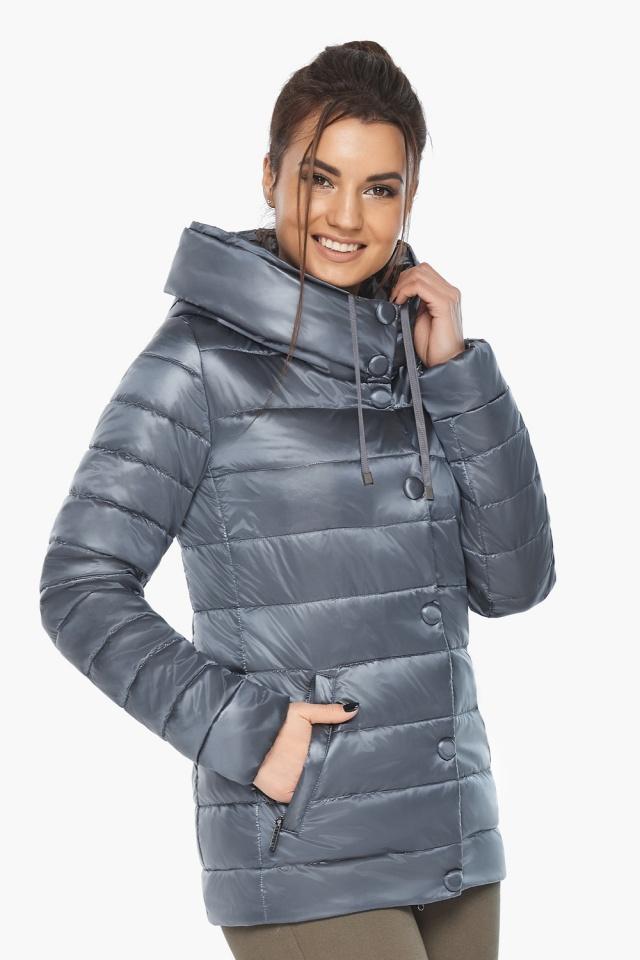 """Осенне-весенняя куртка с вшитым капюшоном женская цвет маренго модель 61030 Braggart """"Angel's Fluff"""" фото 5"""