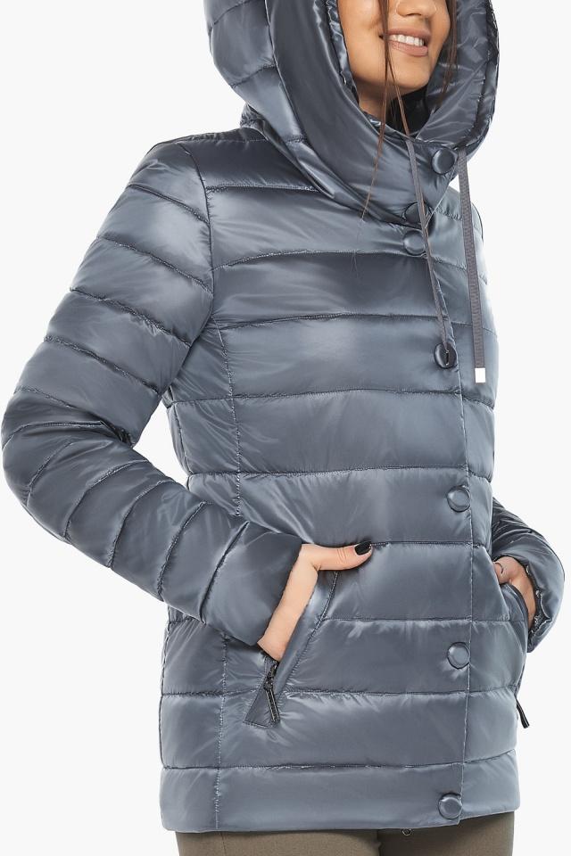 """Осенне-весенняя куртка с вшитым капюшоном женская цвет маренго модель 61030 Braggart """"Angel's Fluff"""" фото 7"""