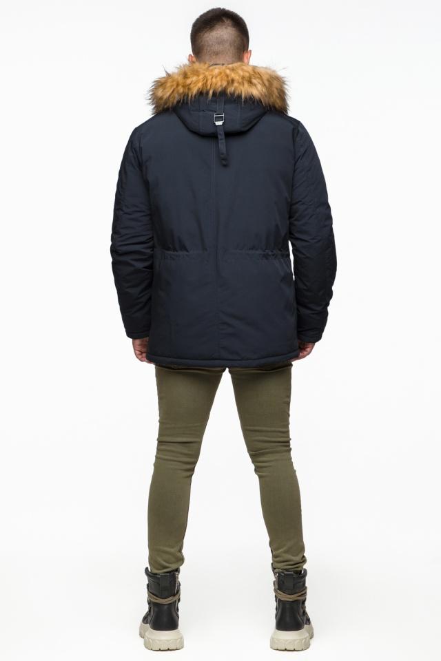 "Мужская парка с кулиской темно-синяя зимняя модель 25770 Braggart ""Youth"" фото 7"
