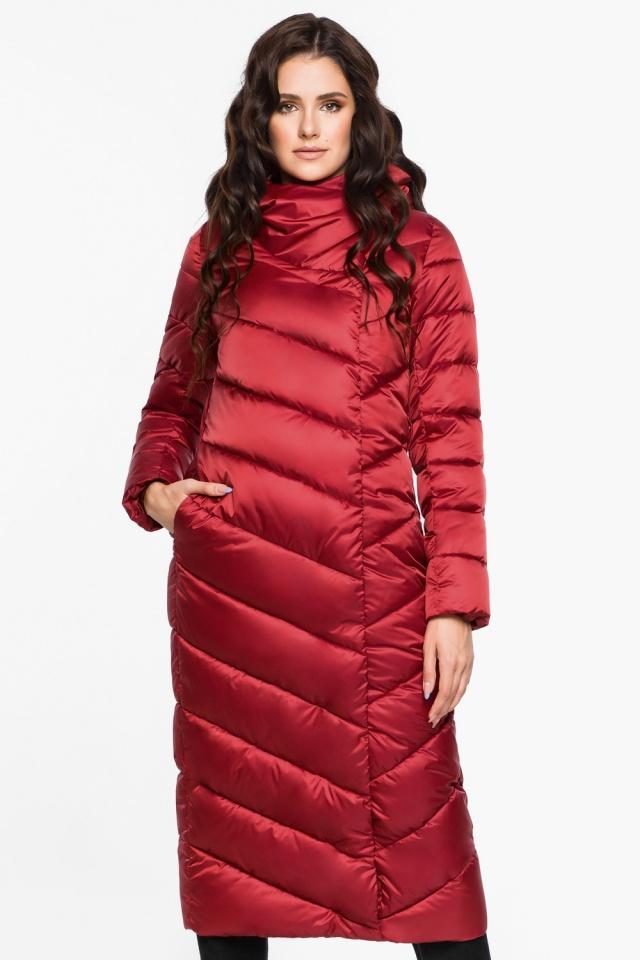 """Яркая рубиновая куртка женская модель 31016 Braggart """"Angel's Fluff"""" фото 3"""