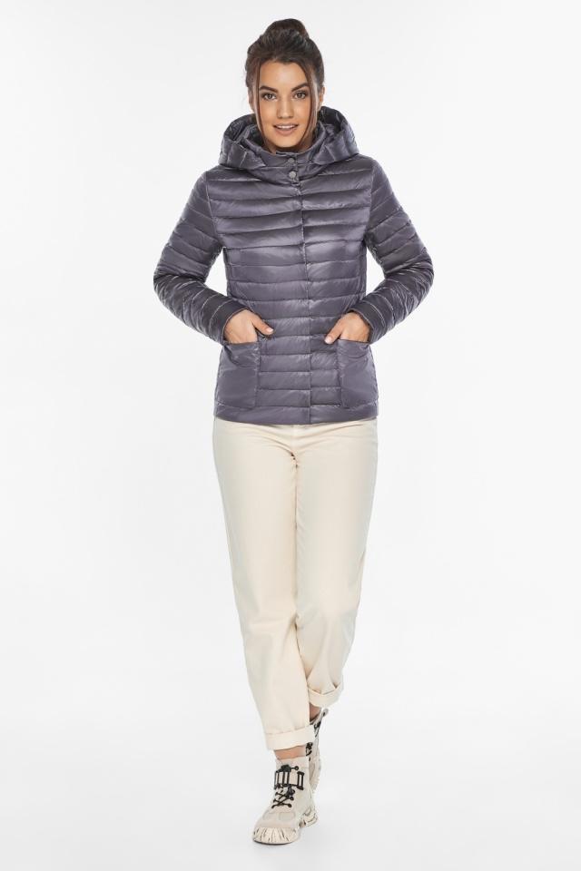 """Осенне-весенняя трендовая лавандовая куртка женская модель 67510 Braggart """"Angel's Fluff"""" фото 5"""