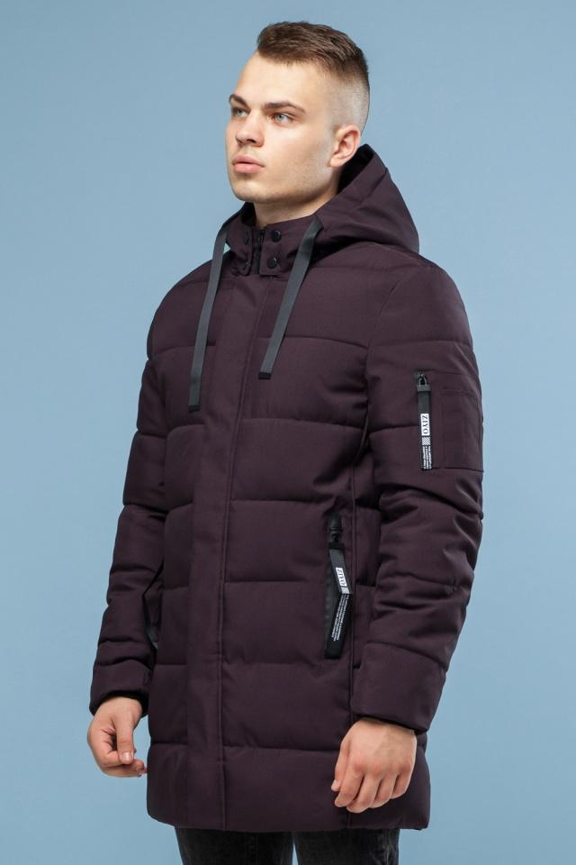Зимняя куртка бордового цвета мужская модель 6007 Kiro Tokao – Ajento фото 4