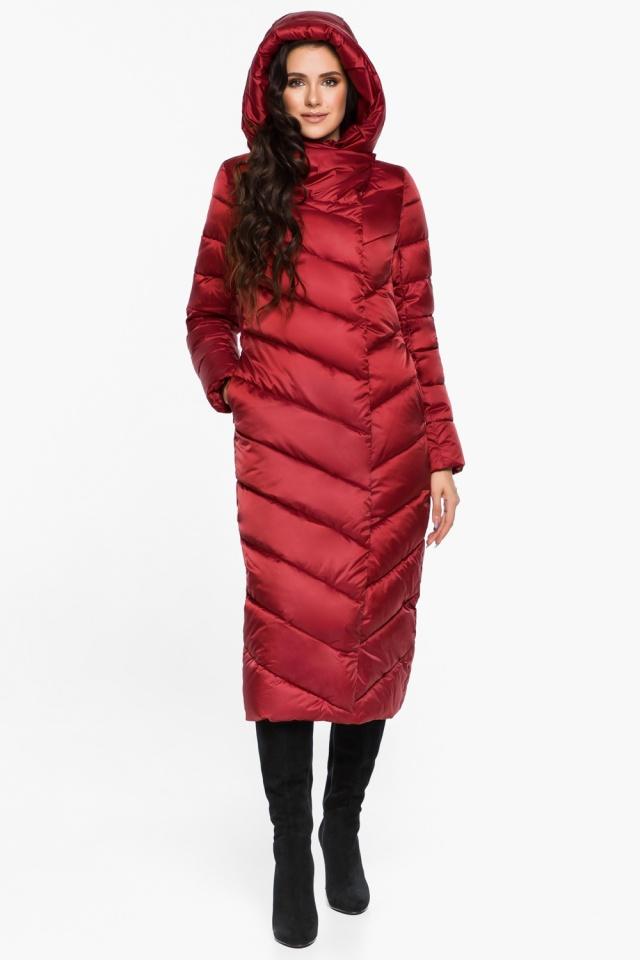 """Яркая рубиновая куртка женская модель 31016 Braggart """"Angel's Fluff"""" фото 4"""
