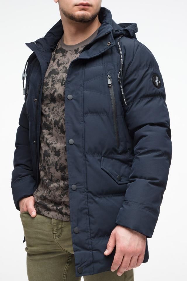Зимняя синяя молодежная куртка мужская модель 25320