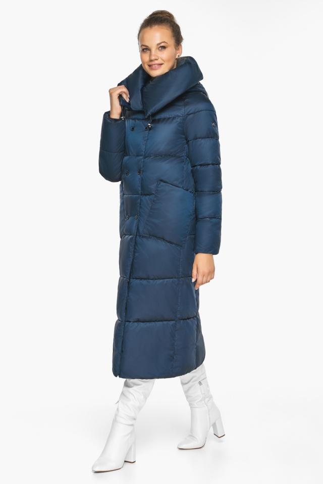 """Куртка сапфировая женская с воротником модель 46150 Braggart """"Angel's Fluff"""" фото 7"""