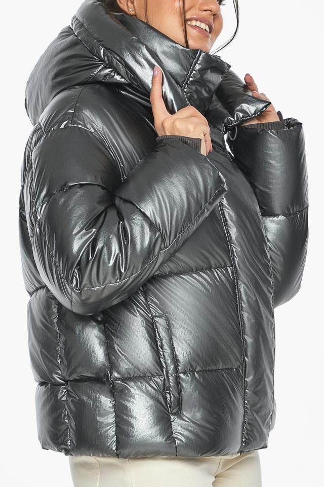 """Куртка женская зимняя фирменная цвет темное серебро модель 44210 Braggart """"Angel's Fluff"""" фото 6"""