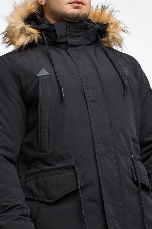 """Короткая черная парка мужская зимняя модель 25770 Braggart """"Youth"""" фото 8"""