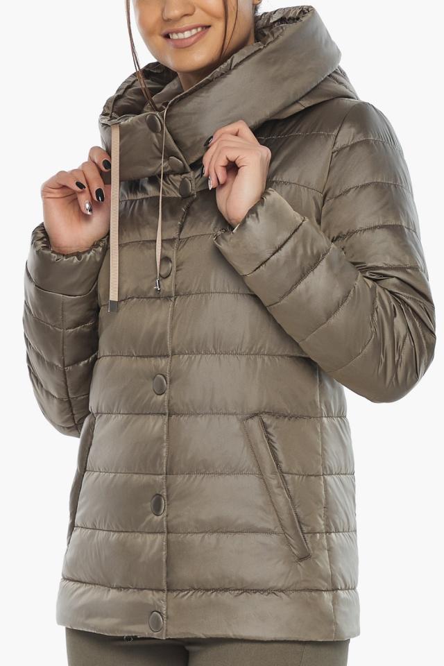 """Жіноча куртка на блискавці осінньо-весняна капучинова модель 61030 Braggart """"Angel's Fluff"""" фото 7"""
