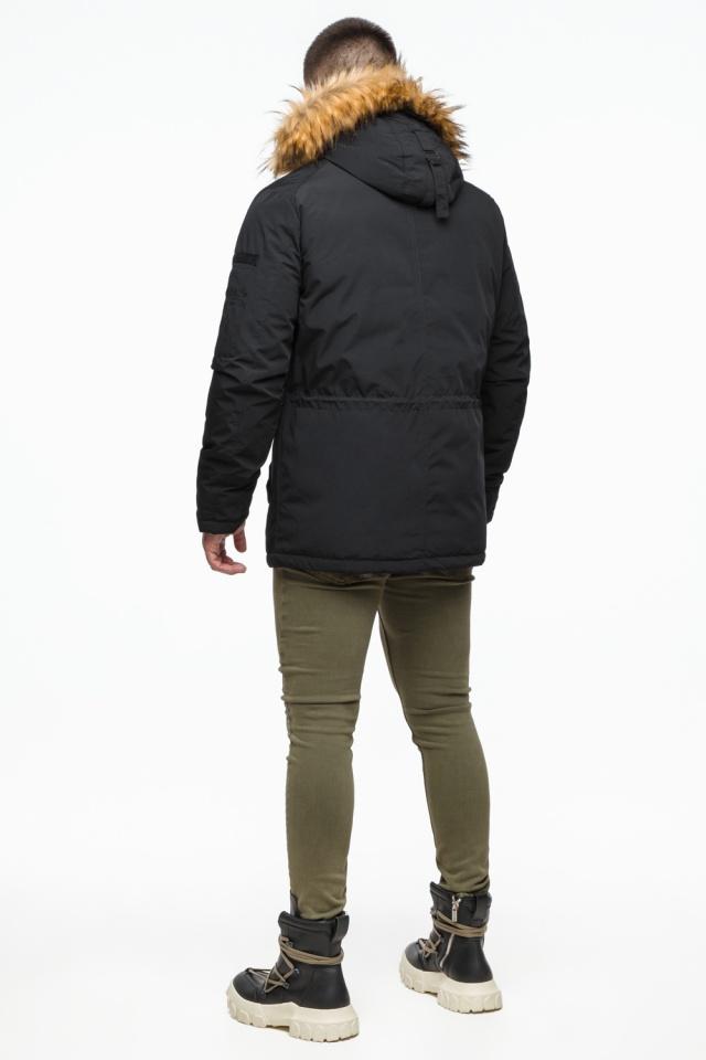 """Короткая черная парка мужская зимняя модель 25770 Braggart """"Youth"""" фото 6"""
