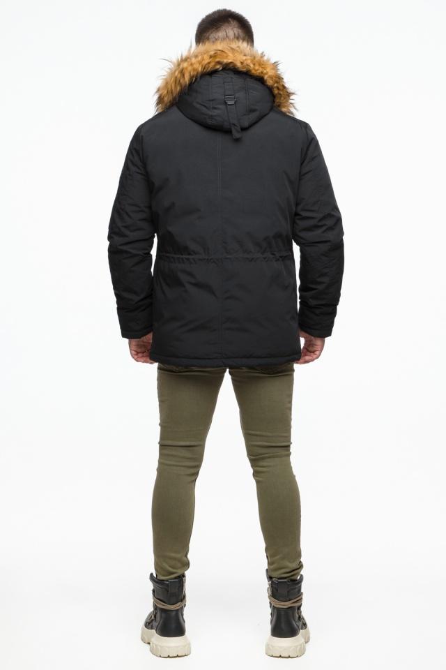 """Короткая черная парка мужская зимняя модель 25770 Braggart """"Youth"""" фото 7"""