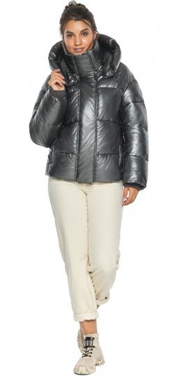 """Куртка женская зимняя фирменная цвет темное серебро модель 44210 Braggart """"Angel's Fluff"""" фото 1"""