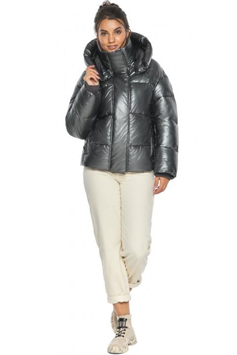 """Куртка жіноча зимова фірмова колір темне срібло модель 44210 Braggart """"Angel's Fluff"""" фото 1"""